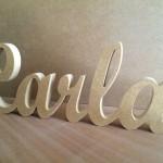 Nombre Carla en Madera